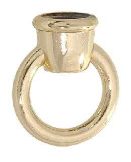 "1 3/8"" ht. Die Cast Zinc Loop w/Brass Finish"