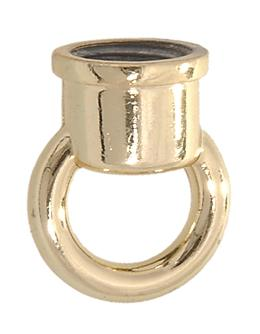 "7/8"" ht. Die Cast Zinc Loop w/Brass Finish"