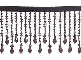 Black Beaded Fringe