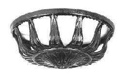 Graceful Iron Bracket Lamp Bowl