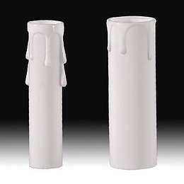 White Color Candle Covers with Drips