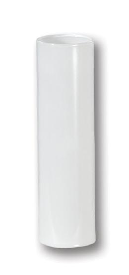 "4"" White Glass E14 Candle Cover - EURO Size"