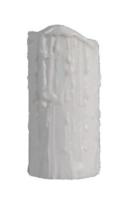 Satin White Poly Resin Candle Covers