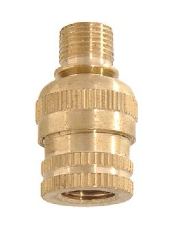 Brass Knurled Lamp Swivel, 1/8M X 1/8F