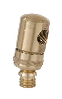 Brass Side Swivel for Lamps and Fixtures, 1/8M X 1/8F