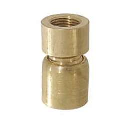 Small Brass Hang-Straight Swivel