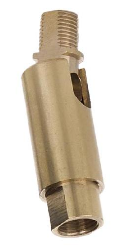 Adjustable Brass Swivel, Bend to 90 degrees, 360 degree Rotation, 1/8M X 1/8F