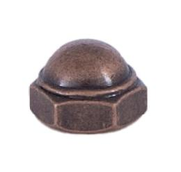 Antique Brass Cap Nut 8/32
