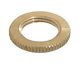 3/8F Large Knurled Brass Locknut
