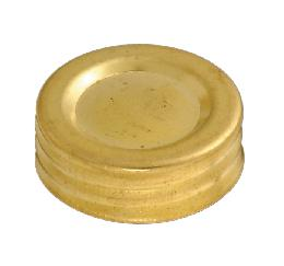 Solid Brass Filler Cap w/Cork Liner