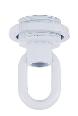 White Die Cast Screw Collar Loop
