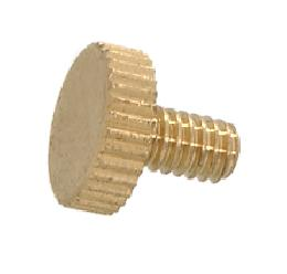 "8/32 Knurled-Head Thumb Screw, 1/4"" Length"
