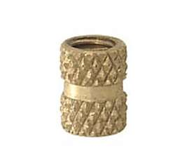 Knurled Brass Coupling, 1/4-27F