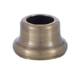 1/2 Inch Stamped Steel Nut in Antique Brass