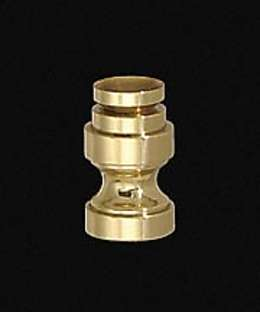 "7/8"" Cup-Shaped, Solid Brass Finial Base"