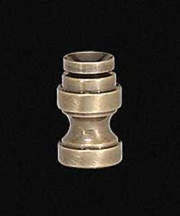 "7/8"" Cup-Shaped, Solid Brass Finial Base w/Antique Finish"