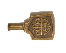 Solid Brass Industrial Style Flat Lamp Key, E-26, Antique Brass Finish