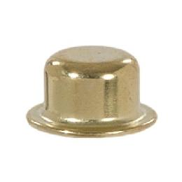 "Knob Style Lamp Finial, Brass Plated, 1/2"" ht."