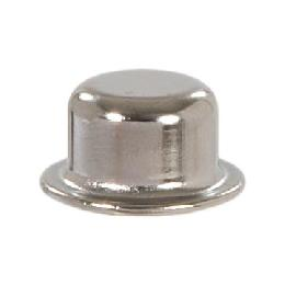 "Knob Style Lamp Finial, Nickel Finish, 1/2"" ht."