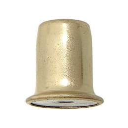 "1"" ht., Brass Plated & Lacq. Finial, 1/4-27F"