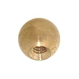 "3/8"" dia., Brass Ball, Tap 6/32F"