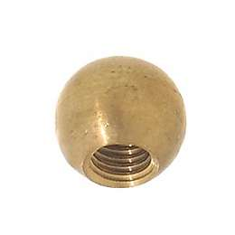 "1/2"" dia., Brass Ball, Tap 1/4-27F"