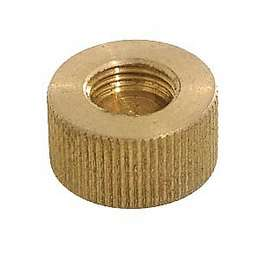 "Brass Gas Cap, Blind. 3/4"" dia., Tap 1/8F X 3/8F"