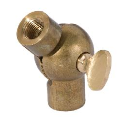 Large Die Cast Brass Swivel with Butterfly Knob