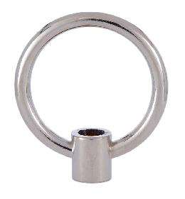 Large 2 Inch Cast Loop with Nickel Plating
