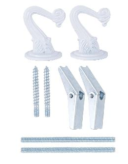 White 2 Hook Swag Lamp Kit