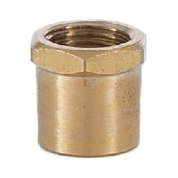 1/2 Inch Brass Hex Coupling, 1/8F x 1/8F