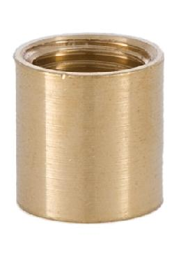 5/8 Inch Brass Coupling, 1/4F x 1/4F