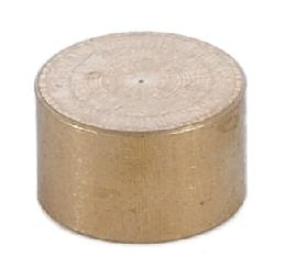 3/8 Inch Thick Flat Unfinished Brass Cap 1/8 Tap