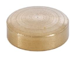 1/4 Inch Thick Flat Brass Cap 1/8 Tap