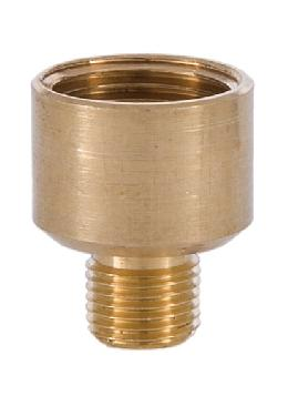 3/4 Inch Brass Straight Nozzle 3/8 to 1/8 thread