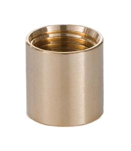 "Brass Lamp Coupling, 5/8"" Ht., 1/4F x 1/8F"