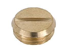 1/4M IPS Slotted Plug or Cap, Unfinished Brass