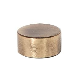 "3/8"" Tall Antique Brass Modern Brass Cap, Tap 1/8F"