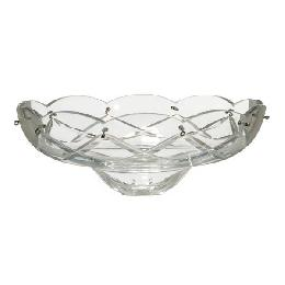 Crystal Dish with Crisscross Design