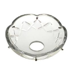 Crystal bobeches cups and dishes chandelier supply crystal bobesche with crisscross design aloadofball Images