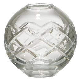 Crisscross Design Clear Crystal Ball