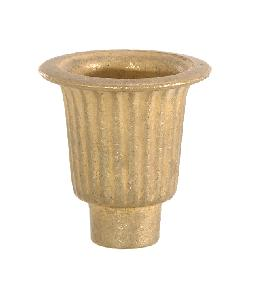 "Cast Brass Candle Cup, 1 1/2"" ht."