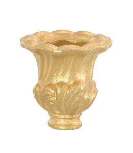 "Cast Brass Candle Cup, 1 5/8"" ht."