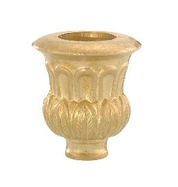 "Cast Brass Candle Cup, 1 3/4"" ht."