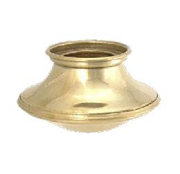 "Brass Candle Cup or Bobesche, 1 1/2"" ht. X 2 3/4"" O.D."
