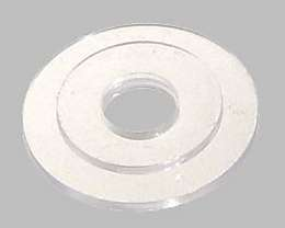 Clear Plastic Washer for Crystal Fixtures/Chandeliers