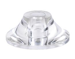 Clear Acrylic Vase Caps, 1-1/2 Inch <br> to 2-1/2 Inch Dia., .70 Inch Ht.