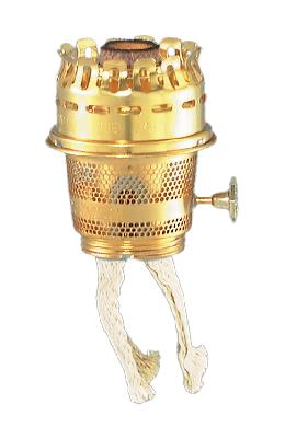 Brass Model 23 Aladdin Brand Burner for Heelless Chimney