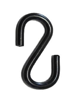 1 1/4 Inch Black Finish Steel S Hook