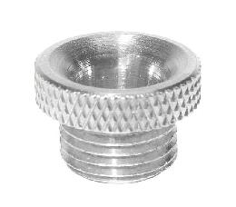 Wide Flange, Nickel Plated Brass Cord Bushing - 1/8M